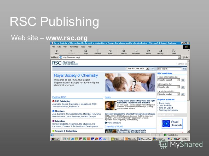 RSC Publishing Web site – www.rsc.org
