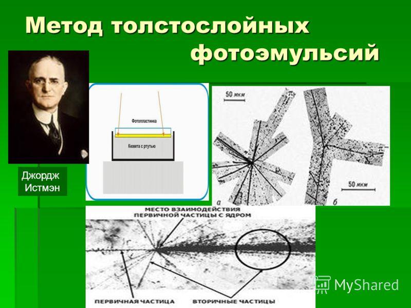 Метод толстослойных фотоэмульсий Джордж Истмэн