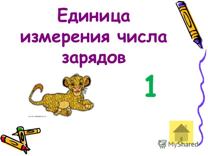 Единица измерения числа зарядов 1