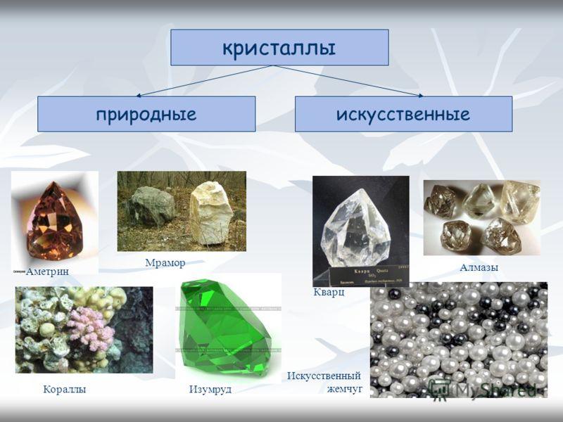 кристаллы искусственныеприродные Кораллы Аметрин Искусственный жемчуг Алмазы Мрамор Изумруд Кварц