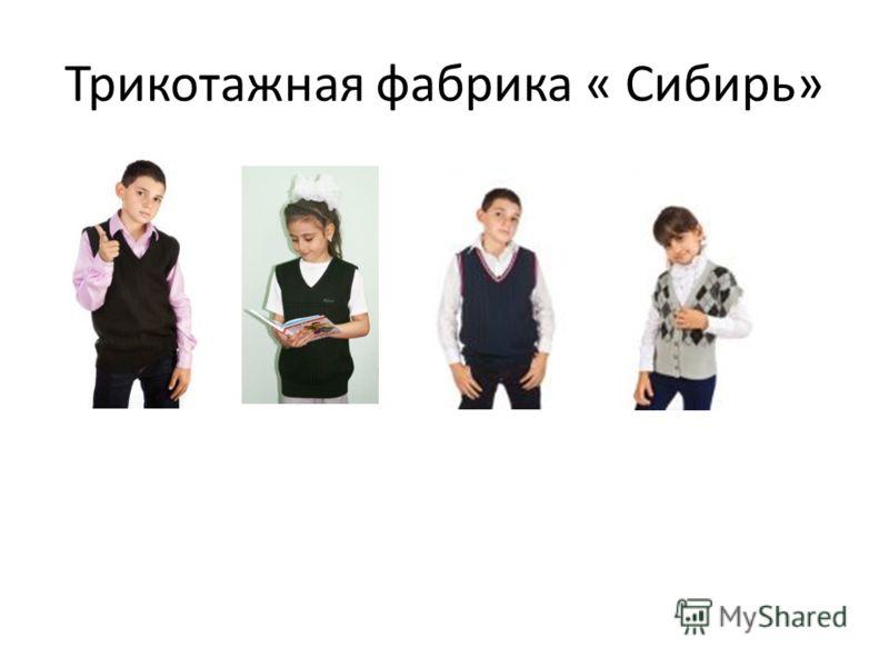 Трикотажная фабрика « Сибирь»