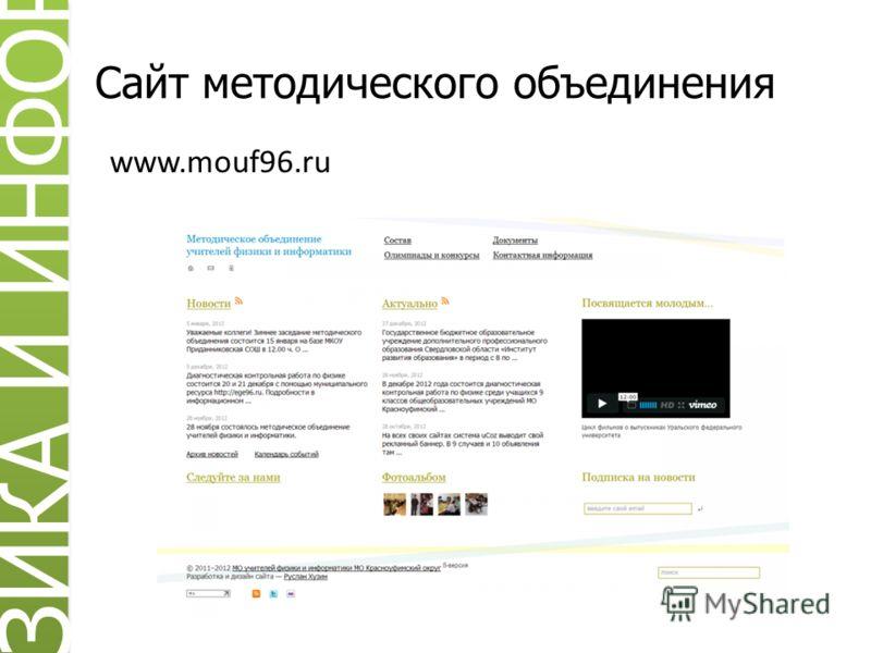 Сайт методического объединения www.mouf96.ru ИЗИКА И ИНФОРМ