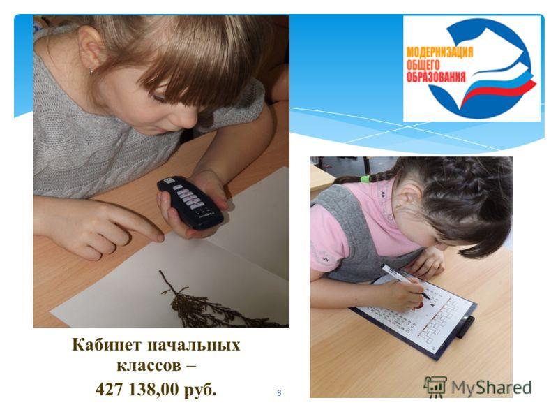 8 Кабинет начальных классов – 427 138,00 руб.