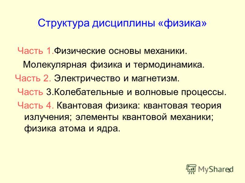 Презентация на тему Дисциплина ФИЗИКА Ч Раздел ФИЗИЧЕСКИЕ  3 3