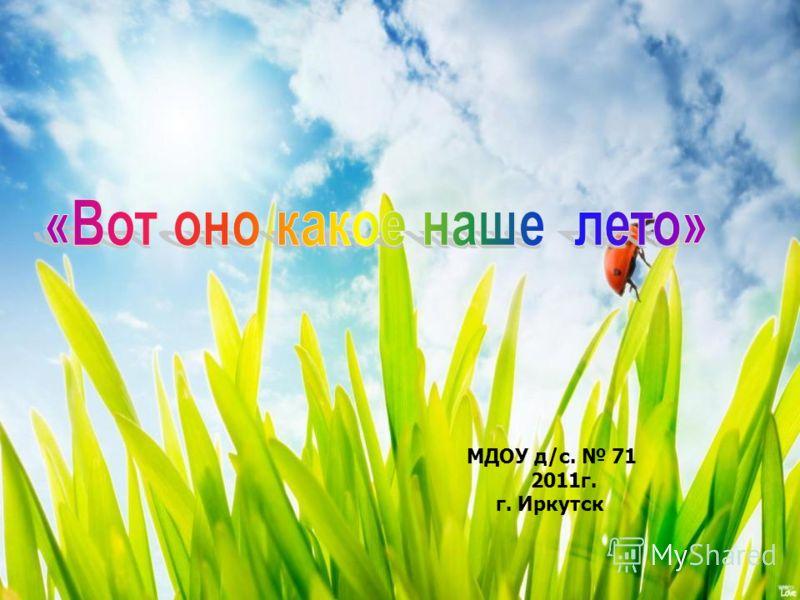 МДОУ д/с. 71 2011г. г. Иркутск