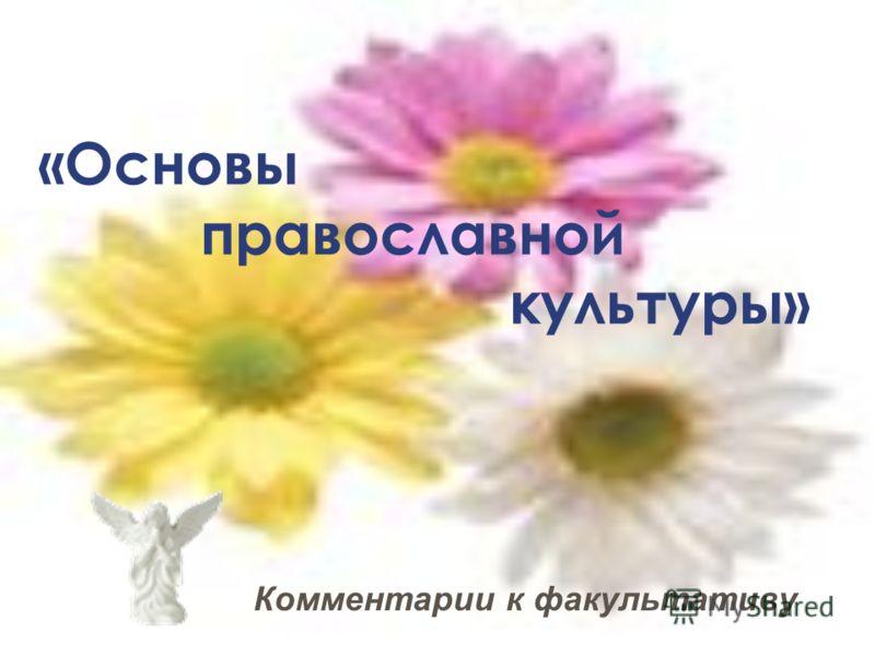 Комментарии к факультативу «Основы православной культуры»