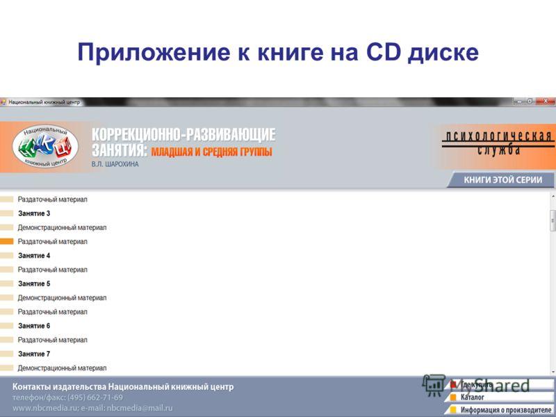 Приложение к книге на CD диске