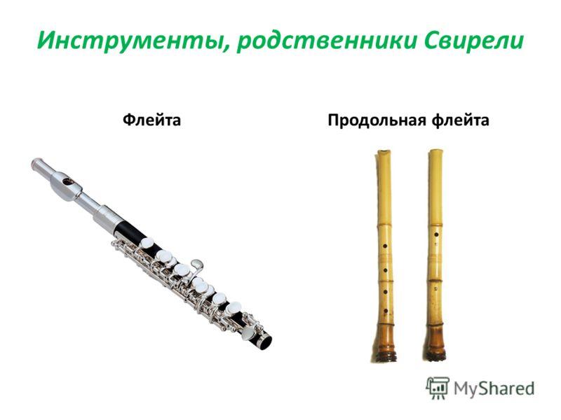 Инструменты, родственники Свирели ФлейтаПродольная флейта