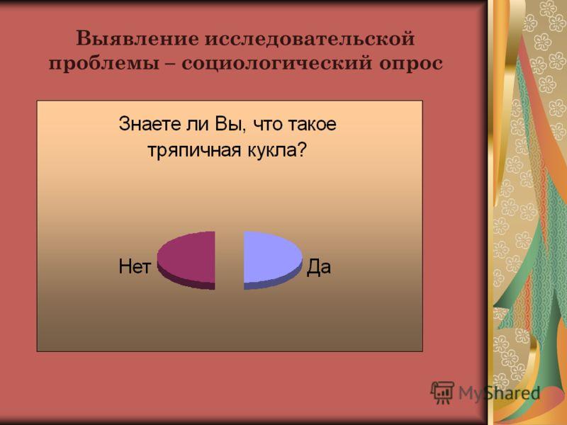 Выявление исследовательской проблемы – социологический опрос
