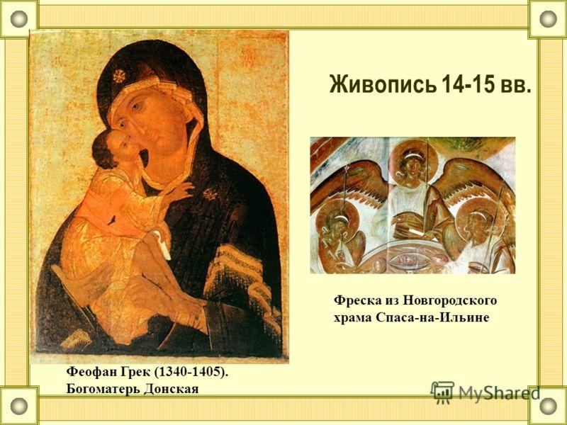 Живопись 14-15 вв. Феофан Грек (1340-1405). Богоматерь Донская Фреска из Новгородского храма Спаса-на-Ильине