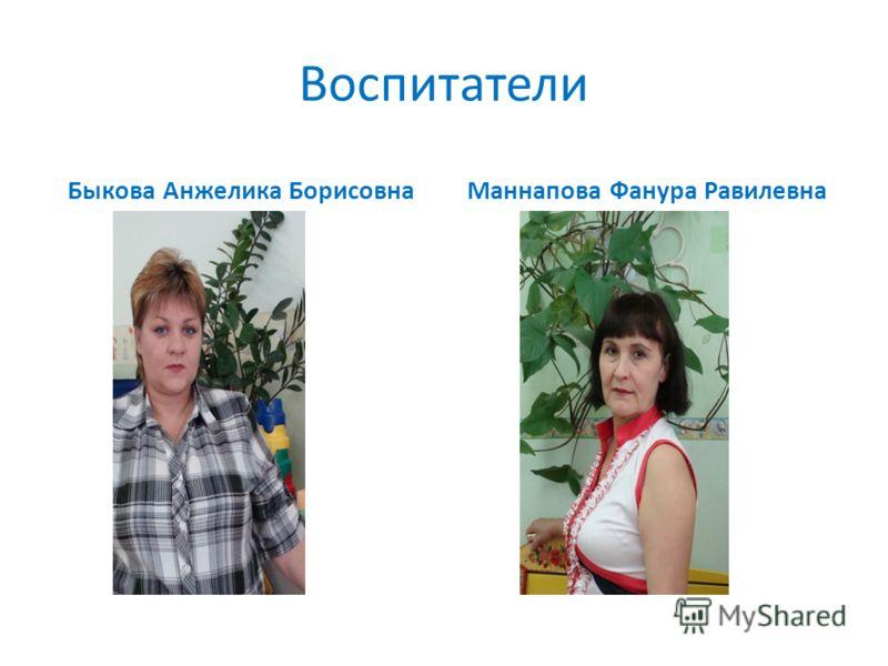 Воспитатели Быкова Анжелика БорисовнаМаннапова Фанура Равилевна