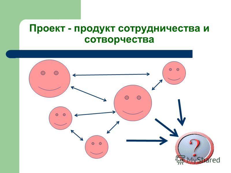 Проект - продукт сотрудничества и сотворчества