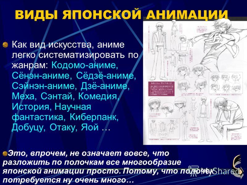 аниме по жанрам: