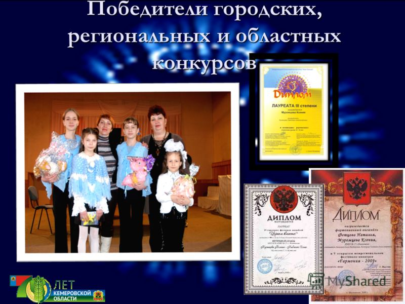 Победители городских, региональных и областных конкурсов