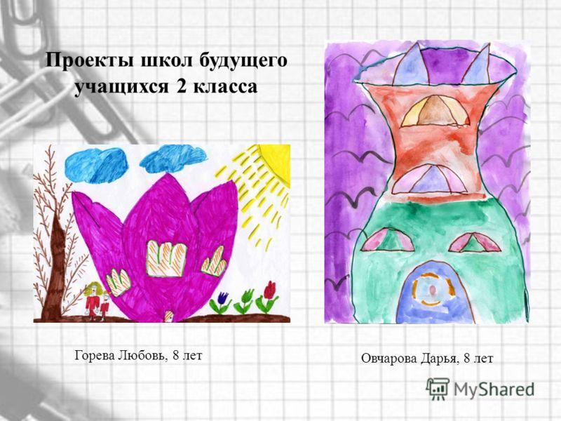 Овчарова Дарья, 8 лет Горева Любовь, 8 лет Проекты школ будущего учащихся 2 класса