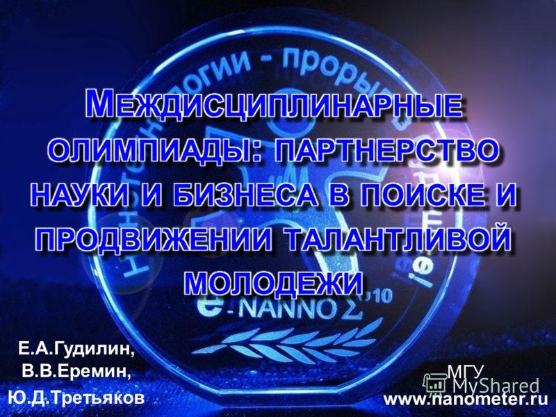 Е.А.Гудилин, В.В.Еремин, Ю.Д.Третьяков МГУ www.nanometer.ru
