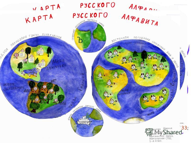 Карта русского алфавита Все гласные буквы расселены
