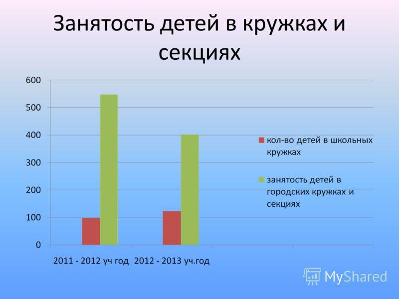 Занятость детей в кружках и секциях