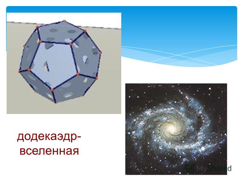 додекаэдр- вселенная
