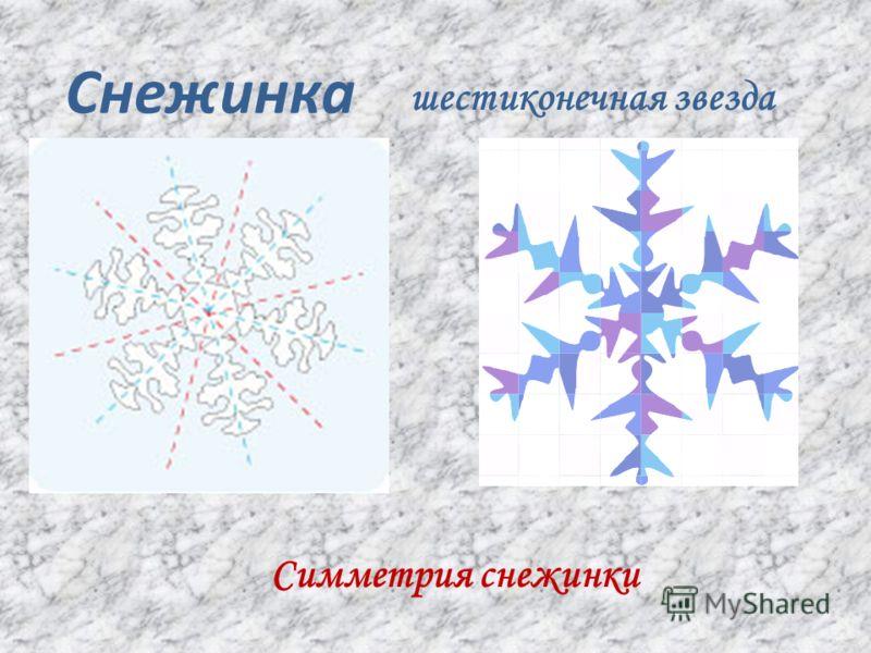 Снежинка шестиконечная звезда Симметрия снежинки