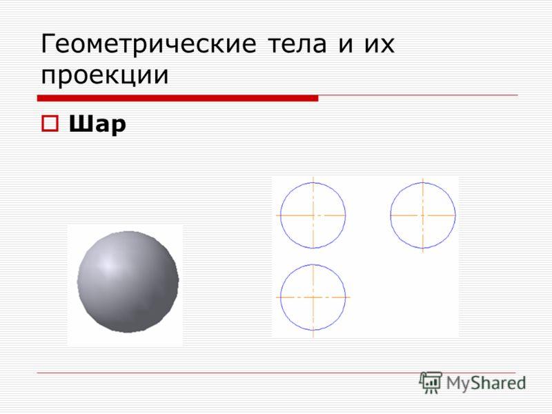 Геометрические тела и их проекции Шар