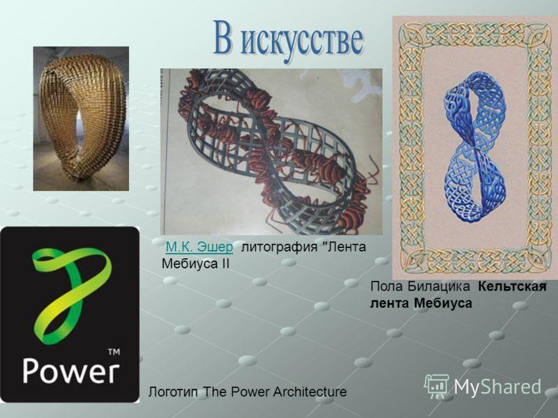 Также лента Мебиуса часто используется в изображениях различных логотипах и торговых марках. Самых яркий пример - международный символ повторного использования.