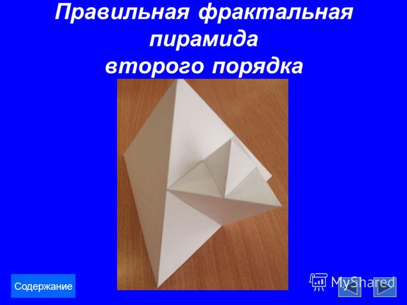Правильная фрактальная пирамида второго порядка Содержание