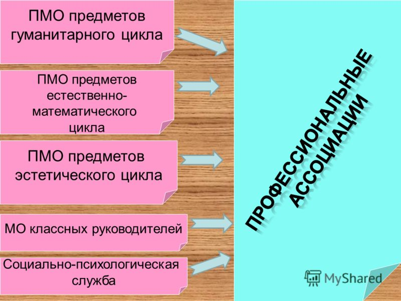 ПМО предметов гуманитарного цикла ПМО предметов естественно- математического цикла ПМО предметов эстетического цикла МО классных руководителей Социально-психологическая служба