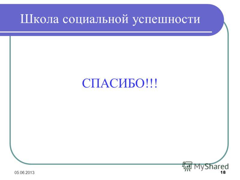 Школа социальной успешности СПАСИБО!!! 05.06.2013 18