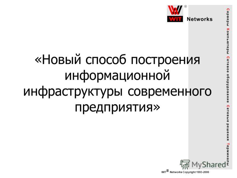 WIT Networks Copyright 1993-2006 «Новый способ построения информационной инфраструктуры современного предприятия»