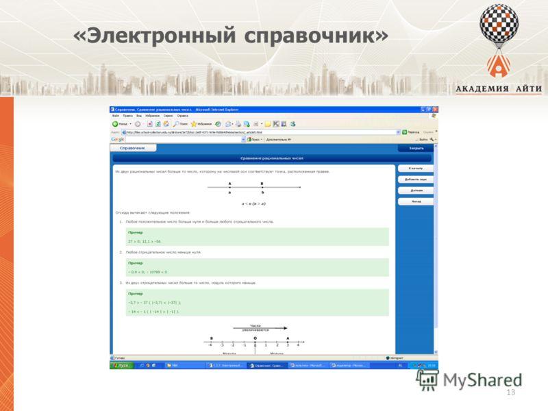 «Электронный справочник» 13