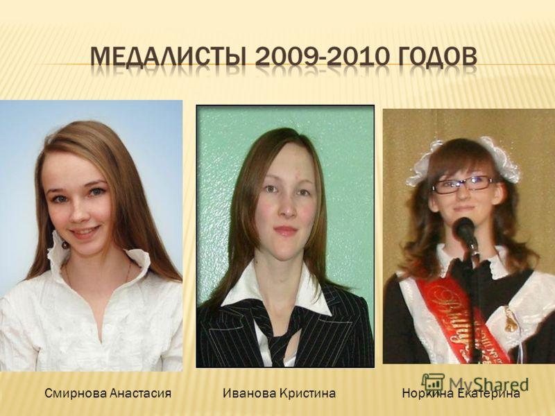 Смирнова АнастасияИванова КристинаНоркина Екатерина