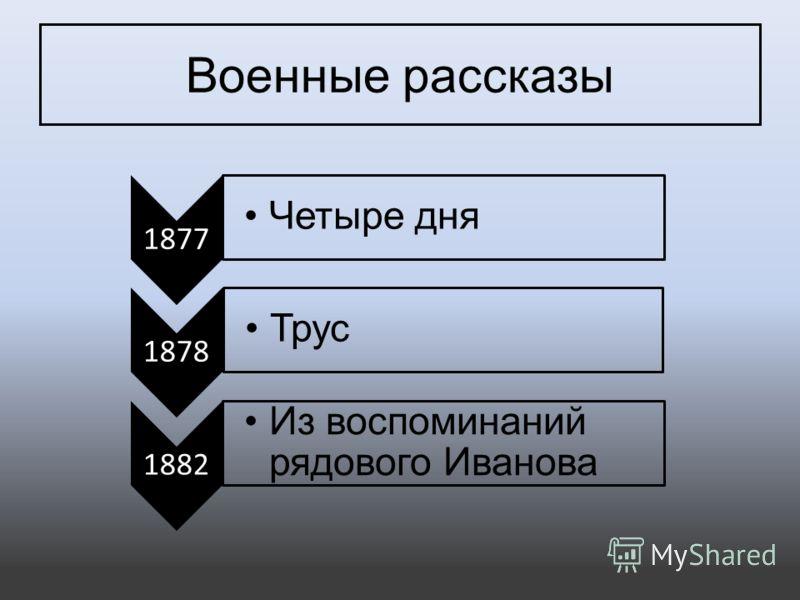Военные рассказы 1877 Четыре дня 1878 Трус 1882 Из воспоминаний рядового Иванова
