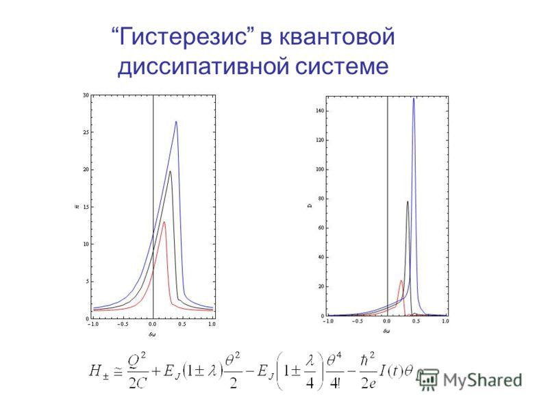 Гистерезис в квантовой диссипативной системе