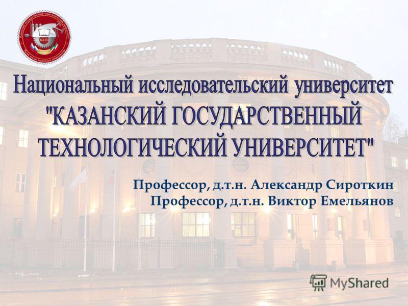 Профессор, д.т.н. Александр Сироткин Профессор, д.т.н. Виктор Емельянов