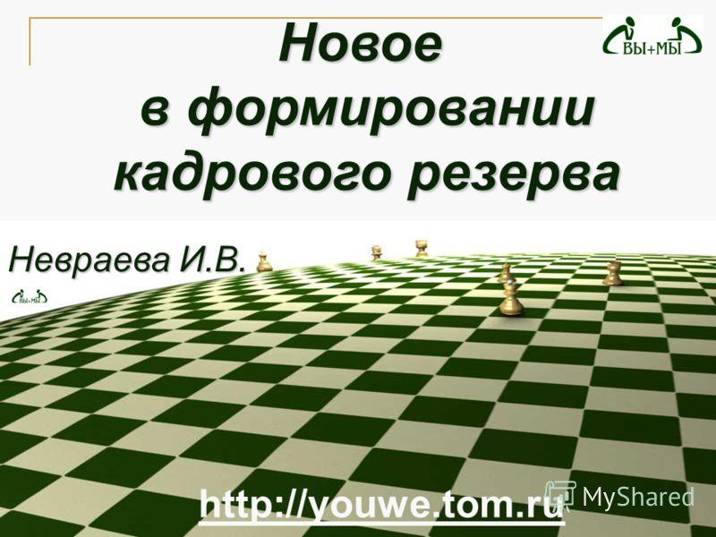 Невраева И.В. Новое в формировании кадрового резерва кадрового резерва http://youwe.tom.ru
