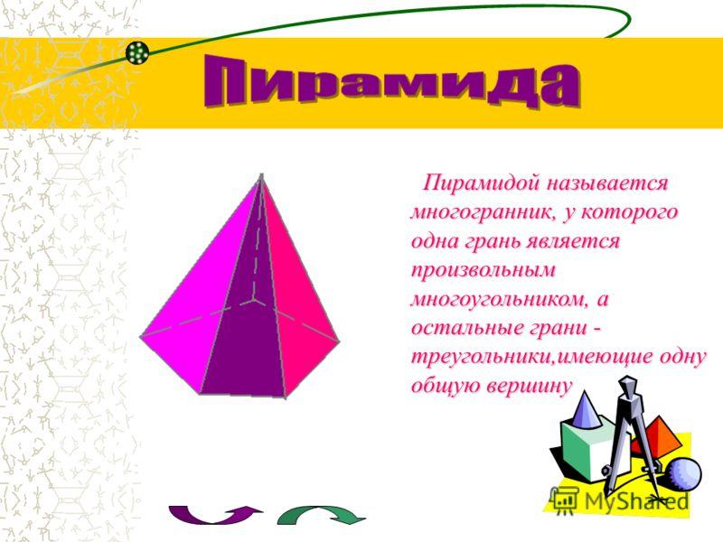 Призмой называется многогранник,две грани которого(основания)- равные многоугольники расположенные в параллельных плоскостях, а боковые грани параллелограммы (прямоугольники)