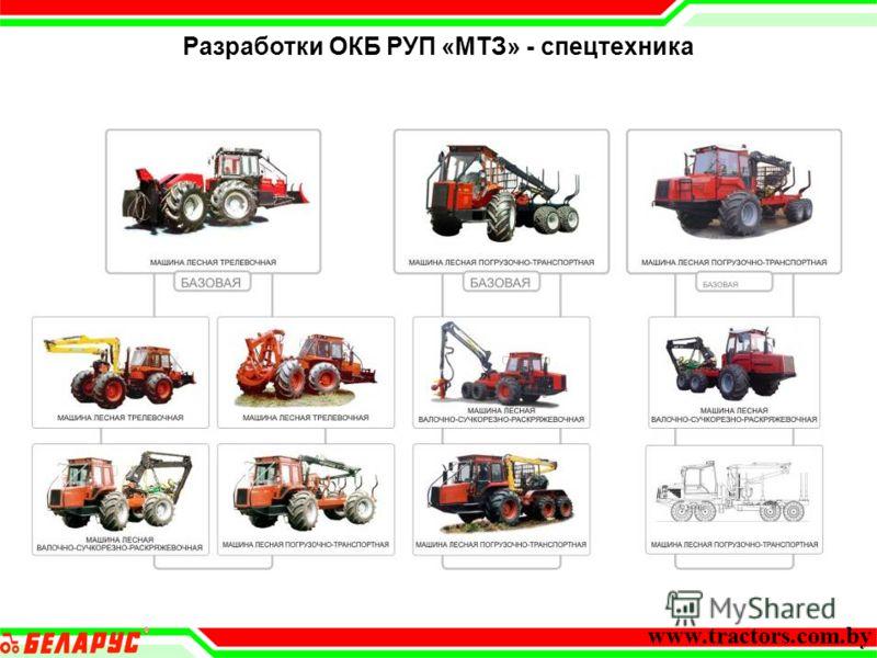 Разработки ОКБ РУП «МТЗ» - спецтехника www.tractors.com.by