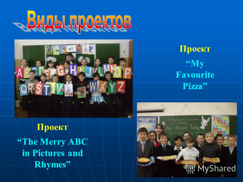 Проект The Merry ABC in Pictures and Rhymes Проект My Favourite Pizza