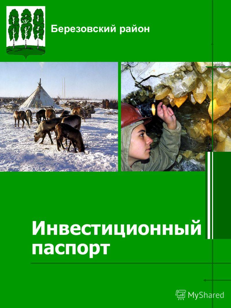 Инвестиционный паспорт Березовский район