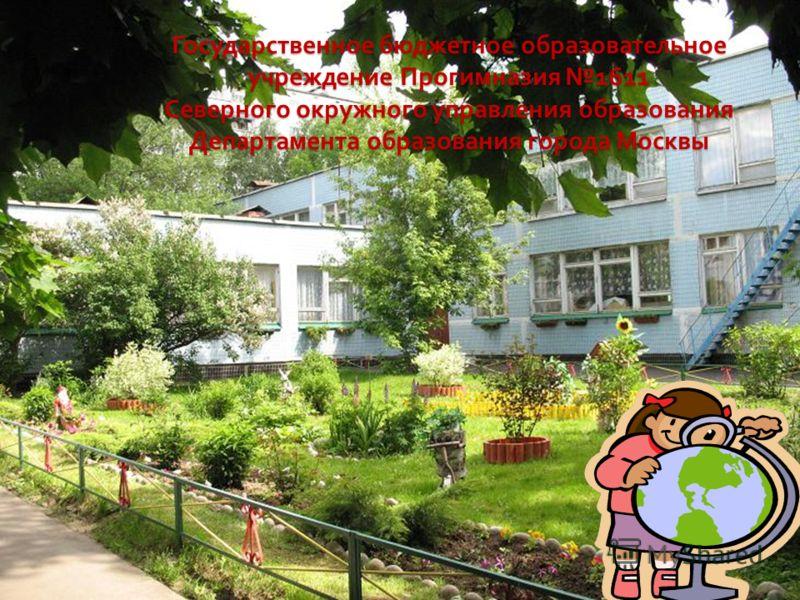Государственное бюджетное образовательное учреждение Прогимназия 1611 Северного окружного управления образования Департамента образования города Москвы