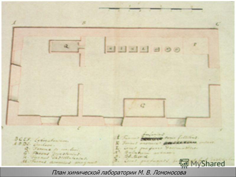 План химической лаборатории М. В. Ломоносова