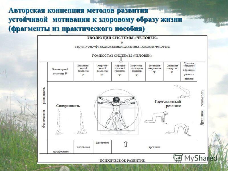 Авторская концепция методов развития устойчивой мотивации к здоровому образу жизни (фрагменты из практического пособия)