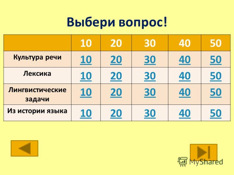 Мы рады приветствовать в школе юного филолога тех, кто любит русский язык и готов проверить свои знания. Вам предлагаются вопросы по следующим разделам: Культура речи, Лексика, Лингвистические задачи, История языка Выбери вопрос и набирай баллы. Може