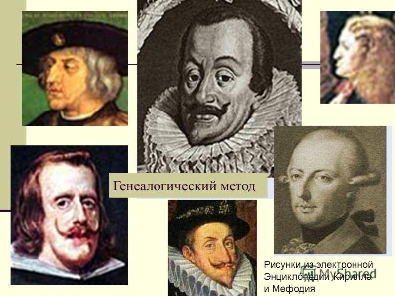 Рисунки из электронной Энциклопедии Кирилла и Мефодия Генеалогический метод