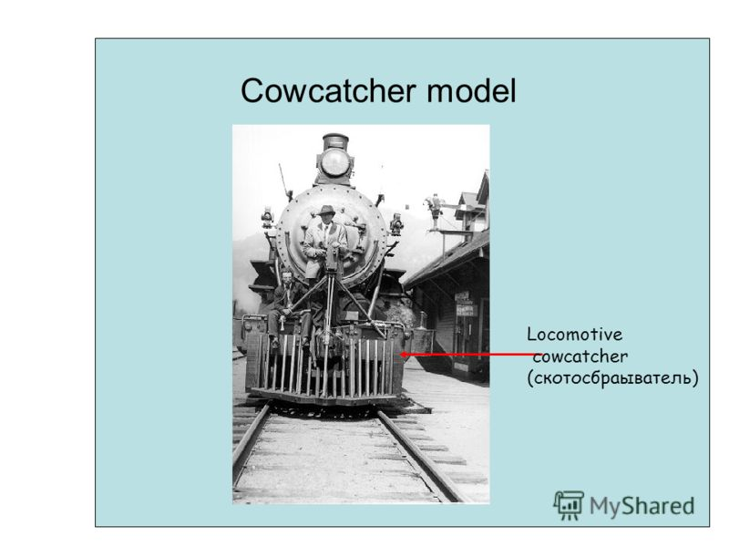Cowcatcher model Locomotive cowcatcher (скотосбраыватель)
