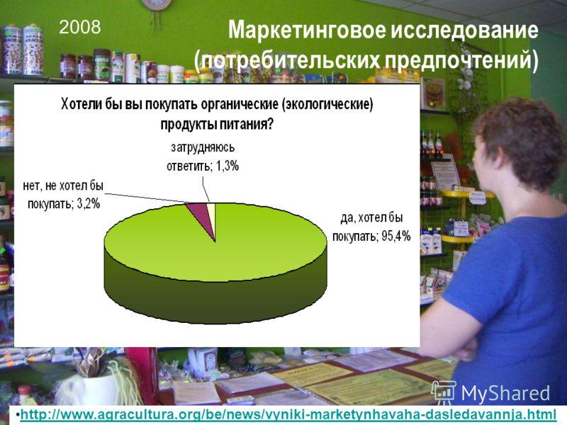 25 Маркетинговое исследование (потребительских предпочтений) http://www.agracultura.org/be/news/vyniki-marketynhavaha-dasledavannja.html 2008