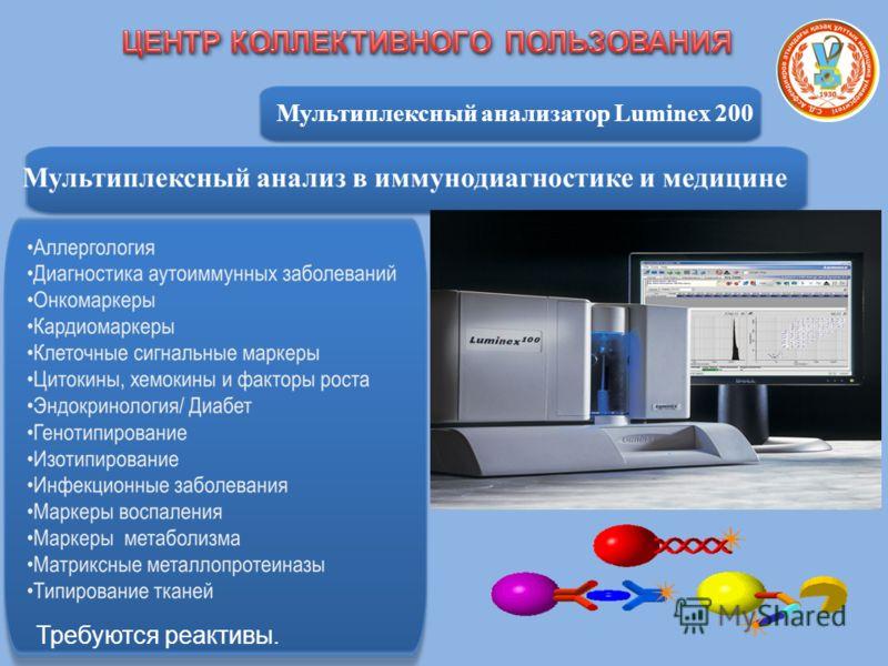 Мультиплексный анализатор Luminex 200 Требуются реактивы.
