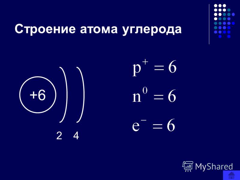 Строение атома углерода +6 24