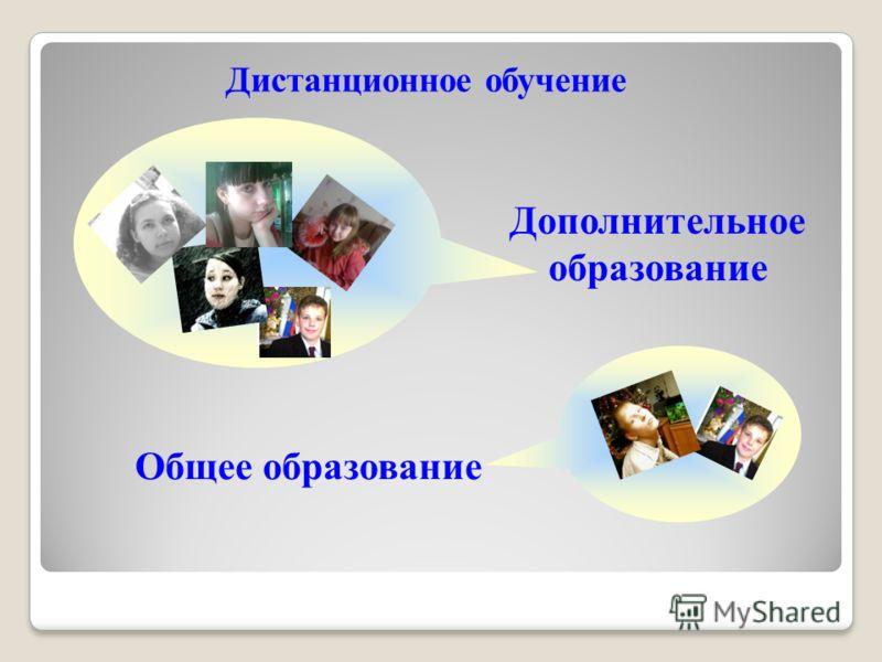 Дистанционное обучение Дополнительное образование Общее образование